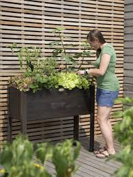 eco stained self watering standing