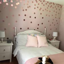 Shiny Rose Gold Polka Dots Wall Stickers Circles Diy Stickers For Kids Room Baby Nursery Room Home Decoration Wall Decals Vinyl Wall Stickers Aliexpress