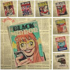 black mirror kraft paper poster