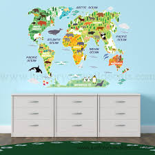 Map Wall Decal Kids Nursery Wall Decals Wall Decals Removable Wallpaper Wall Murals Just For You Decals