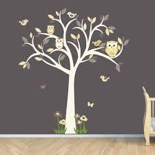 Owl Decal Owl Tree Wall Sticker Goldish By Stickitdecaldesigns Via Etsy Owl Nursery Decor Owl Tree Wall Decal Owl Wall Decals