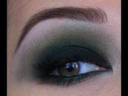 green smoky eye makeup tutorial
