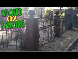Diy Halloween Decorations Cemetery Fence Columns Halloween Graveyard Decoration Ideas Youtube