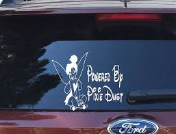 Powered By Pixie Dust Tinker Bell Vinyl Car Pixie Dust Vinyl Canvas Prints