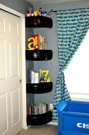 Make Corner Shelves Out Of Tires Toddler Boys Room Teenager Bedroom Boy Cars Room