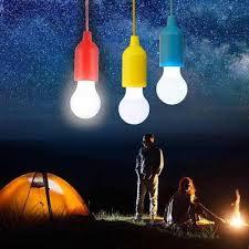 camping lamp garden lights pull cord