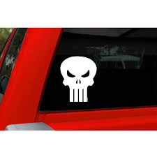 Chroma Punisher Vinyl Sticker Die Cut With The Punisher Skull Symbol Punisher Decals For Car By Goso Direct
