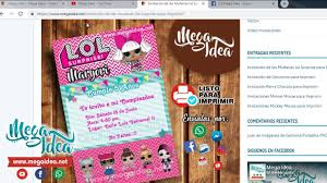 Mega Idea Invitacion De Las Munecas Lol Surprise Para Imprimir