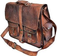 rustic vintage leather messenger bag