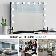 black hollywood makeup vanity mirror