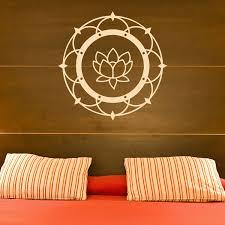 Lotus Flower Blossom Vinyl Wall Decal