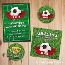 Kit De Invitacin De Ftbol Para Cumpleaos Derecha Ahora Partes Del