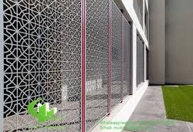 Solid Panel Aluminum Veneer Sheet Metal Screen Room Divider Sheet 2 5mm Thickness For Curtain Wall