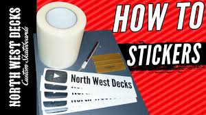 How To Make Your Own Vinyl Stickers Tutorial Youtube