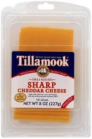 tillamook sharp cheddar deli sliced