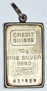 bar pendant 999 fine silver