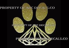 Vrs Dog Diamond Paw Print Puppy Doggy Rescue Adoption Car Decal Metal Sticker Ebay