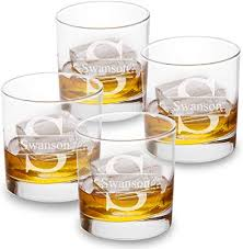 personalized lowball whiskey glasses