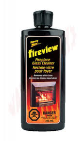 fireview fireplace glass cleaner 236ml