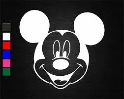Home Garden Children S Bedroom Child Decor Decals Stickers Vinyl Art Mickey Mouse Face Disney Vinyl Decal Sticker Car Van Wall Door Laptop Tablet