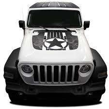 2018 2019 2020 Jeep Wrangler Hood Decal Journey Hood Vinyl Graphic Stripes Kit