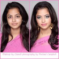 indian wedding before and after makeup