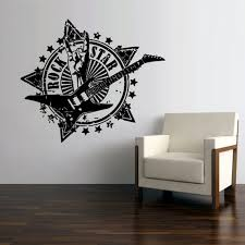 Electric Guitar Wall Decal Rock Star Wall Decal Rock N Roll Etsy