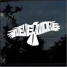 Nevermore The Raven Window Decal Sticker Custom Sticker Shop
