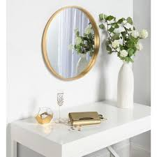 laurel travis round gold mirror