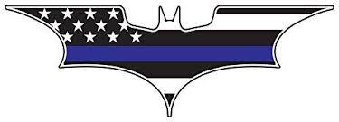 Batman Dark Kight Thin Blue Line 6 X 2 Inch American Flag Thin Blue Line Decal American Flag Decal Reflective Decals