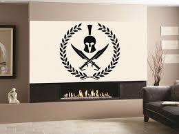 Wall Decal Sticker Bedroom Spartan Warrior Helmet Fighter Etsy