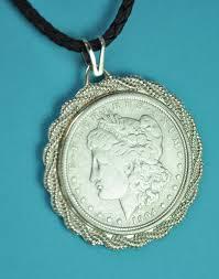 1904 morgan silver dollar coin pendant