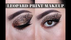 halloween leopard print eye makeup