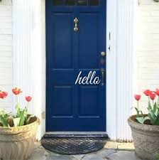 Hello Door Vinyl Decal Sticker Front Door Decal Decor Welcome Home Art Ebay