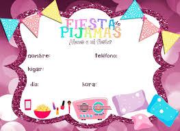 Invitacion Fiesta De Pijamas Fiesta De Pijamas Invitaciones