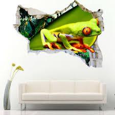 J863 Tree Frog Jungle Rainforest Wall Stickers Bedroom Girls Boys Living Kids Ebay