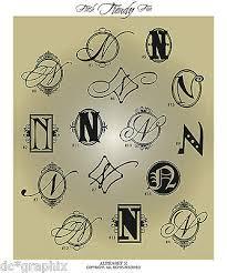 Fancy Monogram Letter N Vinyl Wall Decal Sticker Alphabet Home Decor Ebay