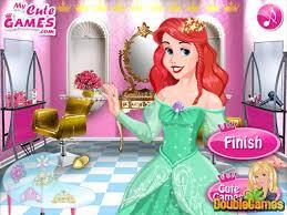 barbie princess hair salon game
