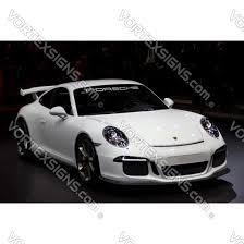 Porsche Windshield Decal Sticker Letters Logo Emblem