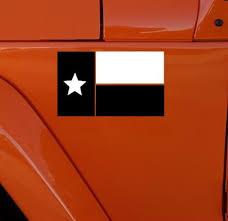 Texas Flag Black And White Fender Decal Custom Sticker Shop