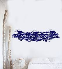 Vinyl Wall Decal Sea Waves Nautical Ocean Marine Style Stickers 4021i Wallstickers4you