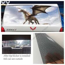 Funny Creative Dragon Car Stickers For Car Rear Window Decals Removeable 147cm 70cm Car Stickers Aliexpress