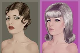 retro style in vector portraits