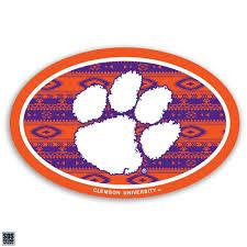 Sds Design Clemson Tigers Aztec Pattern Vinyl Decal Mr Knickerbocker