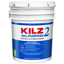 Kilz 2 Interior Exterior Multi Purpose Water Based Wall And Ceiling Primer 5 Gallon In The Primer Department At Lowes Com
