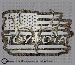 American Flag Toyota Trd Truck Whitetail Buck Skull Camo Hunting Deer Firehouse Graphics