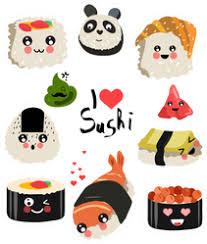 Cute I Love Sushi Rolls Sticker