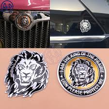 3d Lion Stickers Aluminum Car Decal Car Styling For Vw Volkswagen Bmw Nissan Ebay