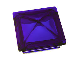 6 x 6 cobalt blue glass post cap
