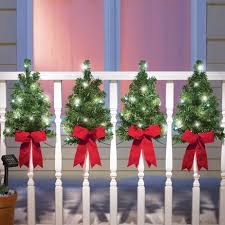 Solar Christmas Trees Wall Fence Decor Collections Etc